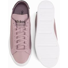 info for fc36d 93e7c Adidas Originals Court Vantage W (92) ❤ liked on Polyvore featuring shoes, adidas  originals shoes, round cap, laced shoes, lace up shoes and embellished ...