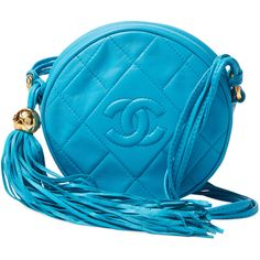 Chanel Vintage Blue Quilted Lambskin Round Mini - Blue (117.080 RUB) ❤ liked on Polyvore featuring bags, handbags, blue, mini purse, miniature purse, lambskin purse, chanel purse and chanel