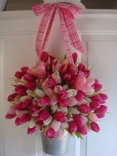 Valentine wreath spring wreath front door . would be nice to hang from a shepards hook