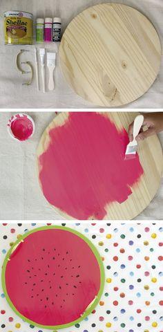 DIY – Faça você mesmo uma bandeja de melancia