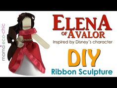 DIY Ribbon Sculpture inspired by Elena of Avalor Ribbon Hair Bows, Diy Ribbon, Origami Ribbon, Ribbon Crafts, Disney Hair Bows, Hair Bow Tutorial, Diva Design, Ribbon Sculpture, Boys Bow Ties