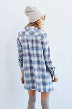BDG Flannel Shirtdress - Urban Outfitters