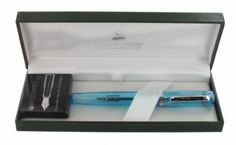 Stylo Plume a pompe Artista Crystal Turquoise