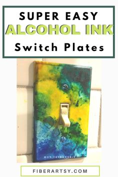Add a pop of color to your home decor! Use Alcohol Inks to decorate your home's switch plates and outlet covers. Learn how to paint your home's plate covers with vibrant alcohol inks. #alcoholink #diyhomedecor Homemade Beauty Recipes, Homemade Art, Burlap Crafts, Fabric Crafts, Homemade Wreaths, Outlet Covers, Do It Yourself Projects, Alcohol Inks, Switch Plates