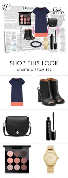 """""""T-shirt Dress"""" by devin-10 ❤ liked on Polyvore featuring Post-It, Balmain, Whiteley, Boden, Maison Margiela, rag & bone, Marc Jacobs, MAC Cosmetics and Michael Kors"""