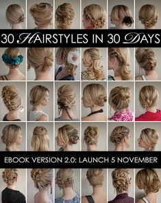 30 Days of Twist and Pin Hairstyles - New ebook update @Tonya Potts Romance