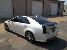 2-tone Diamond White/Matte Black CTS-V, enjoy!