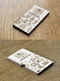 Wooden Business Card - My next business card will be on wood! Very cool...