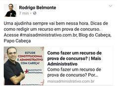 Como fazer recurso do gabarito da prova? Dicas no http://www.maisadministrativo.com.br Blog do Cabeça Papo Cabeça  @lacconcursos by rodrigoabelmonte http://ift.tt/1WC36K6