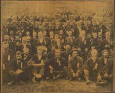"""Members of the """"Orphan Brigade"""" pictured in 1887. The Kentuckians took their name from the fact that for most of the war, their home state was in Union hands and, thus, off limits lest they be arrested. Other sources cite the fact that they lost so many commanders as another source of the name """"orphan"""" brigade."""