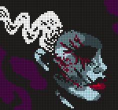 Bride Of Frankenstein Perler Bead Pattern / Bead Sprite