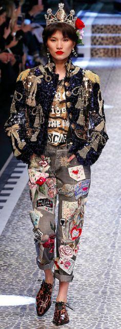 Dolce&Gabbana Outono inverno 2017/18 MFW -Jeans