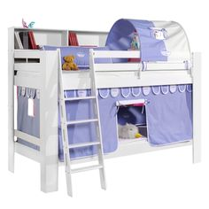 Etagenbett Jan - Buche massiv / Baumwolle - Weiß / Himmelblau / Weiß, Relita Jetzt bestellen unter: https://moebel.ladendirekt.de/kinderzimmer/betten/etagenbetten/?uid=3dcfb1f4-6dcf-5f0a-a3cb-477a255b241e&utm_source=pinterest&utm_medium=pin&utm_campaign=boards #möbel #etagenbetten #kinderzimmer #relita #teens #betten #kids