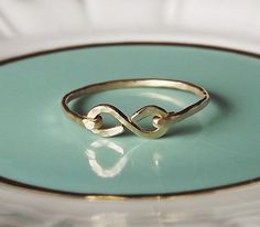 Hammered Gold Filled or Sterling Infinity by BellatrinaJewelry, $19.00