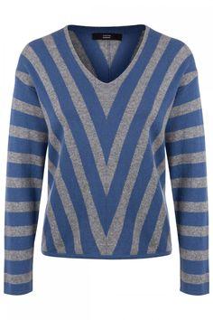 Steffen Schraut Damen Kaschmirpullover Grau/Blau | SAILERstyle Men Sweater, Shirts, Tops, Sweaters, Fashion, Elegant Clothing, Cashmere Sweaters, Grey, Breien
