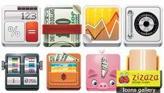 Icon set - Money - Zizaza item for free