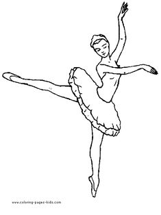 Ballet, Ballerina and Dancing color page, sports coloring pages, color plate, coloring sheet,printable coloring picture