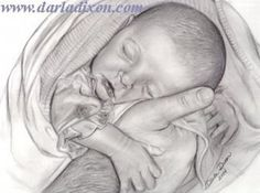 Brianna Safe In Daddy's Hands Father And Newborn Baby Daughter Portrait Drawing by Darla Dixon Drawing Sketches, Pencil Drawings, Art Drawings, Pencil Sketching, Pencil Art, Angel Drawing, Baby Drawing, Wonder Woman Drawing, Jesus Drawings