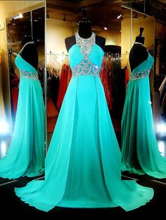 Long Chiffon Prom Dresses,A-line Beading Prom Dresses,Halter Prom Dresses Long,Backless Long Party Dress,Long Graduation Dresses For Teens Open Back Prom Dresses, Best Prom Dresses, Backless Prom Dresses, Prom Dresses Blue, Dresses For Teens, Junior Dresses, Pretty Dresses, Beautiful Dresses, Formal Dresses