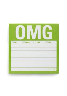 $3.99 OMG Post-it Notes