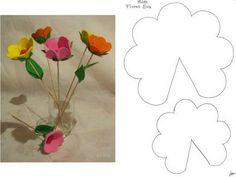 lembrancinha flores de eva com moldes