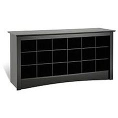 Broadway Black Shoe Storage Cubbie Bench | Overstock™ Shopping - Great Deals on Benches