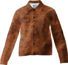 The Red Planet Twill Front-Button Jacket from Print All Over Me. This is a great abstract image that looks an awful lot like the surface of Mars, so I called it The Red Planet. Abstract swirls of rusty red make a great all-over design for this piece.