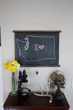 Chalkboard (Any) State Map. $45.00, via Etsy.