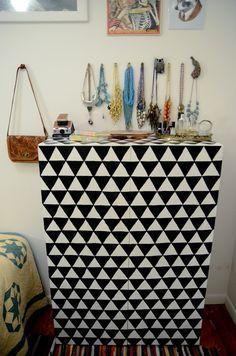 Paint a fun geometric pattern | 99 Clever Ways To Transform A Boring Dresser