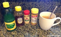 LIZZY'S FIREWATER : my cure-all drink for a light, invigorating body cleanse or to fight off colds & sore throats | Health benefits: Ginger = natural antibiotic, anti-inflammatory, decongestant. Cayenne = opens & drains nasal passages, fights inflammation