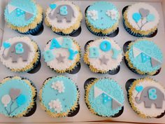 Baby Boy Shower Cupcakes xMCx