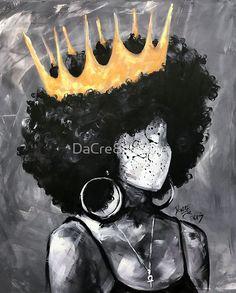 Naturally Queen II Poster by Naturally Queen II Poster by MM makareinismoana Schrift Buy Naturally Queen II by as a T-Shirt Classic T-Shirt nbsp hellip art Painting Black Love Art, Black Girl Art, Art Girl, Black Girls, Black Art Painting, Black Artwork, Afro Painting, African American Art, African Art
