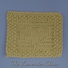 Heart Hot Pad free knitting pattern - The Lavender Chair