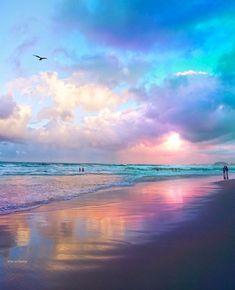 Wonderful Places: Cotton candy sunset at Gold Coast - Australia ✨💖💜💖✨ Picture by ✨✨ . Beautiful Sunset, Beautiful Beaches, Landscape Photography, Nature Photography, Beach Scenes, Nature Pictures, Pretty Pictures, Wonderful Places, Beautiful Landscapes