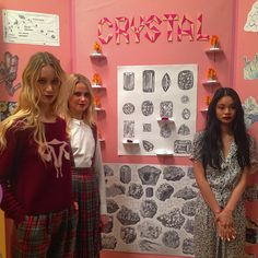 """High School has never looked so chic! #thesciencefair @rachelantonoff AW15 #nyfw #whogavememono?"" gemstones vintage print"