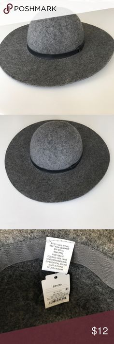 Wool Felt Floppy Hat, Gray Brand new, tags attached. Merona Accessories Hats