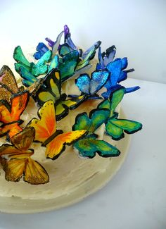 This is a tutorial on how to make gum paste butterflies. Please go to this ladies blog by clicking on the picture. I am so stoked to have helpful websites such as this one to help me practice my cake decorating. So happy!
