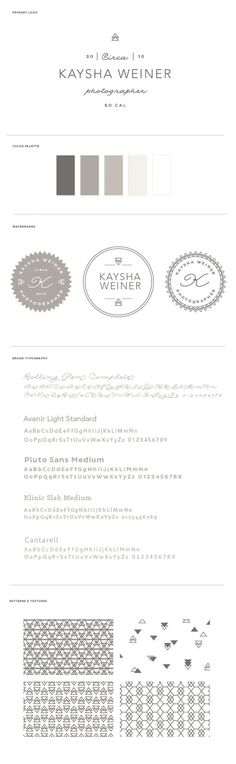 Kaysha Weiner Photography Brand Board by BRAIZEN