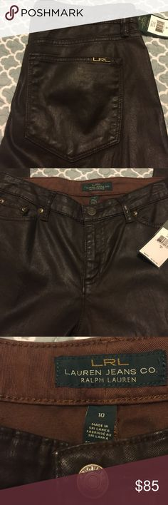 Jeans Feels like leather but they r cotton! Lauren Ralph Lauren Pants Trousers