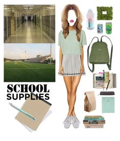 """""""American school."""" by djulia-tarasova ❤ liked on Polyvore featuring Smythson, Suck, Isabel Marant, Fountain, NIKE, HallWay, Lime Crime and Pentel"""