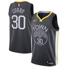 c70bc3fa9 Men s Golden State Warriors Stephen Curry Nike Black Swingman Jersey  Statement Edition