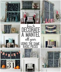 How to Decorate a Mantel All Year Using the Same Basic Pieces - House by Hoff