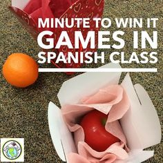 Minute to Win It Games in Spanish Class NINE GAMES to play in Spanish class that are timed for extra fun! Mundo de Pepita, Resources for Teaching Spanish to Children