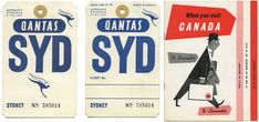 Vintage Airline Ticket Airs archive of tickets
