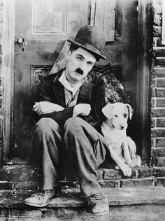 Happy birthday to Charlie Chaplin. Charles Spencer Chaplin was born in London, England, on April Smile Charlie Chaplin, Charles Spencer Chaplin, Films Cinema, Photo Vintage, Silent Film, Vintage Hollywood, Caricatures, Dog Life, Movie Posters