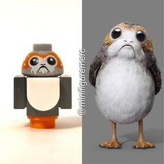 #repost by @minifiguremerc ------ Porg (Second Variant) This little dude accompanied Luke and Rey in the set early this year. Before we saw two porgs included in the UCS Millennium Falcon but with a different color scheme. Its a decent little build making good use of some 1x1 pieces and the same head mold as BB-8. I think I wouldve preferred an exclusive mold but thats just me. It wouldve been similar to that of a new penguin. . Yes I realize the wings are in the wrong positions . 6/10…