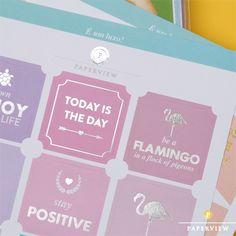 Stickers Collection com cores lindas e frases inspiradoras gravadas em prata e ouro. So Shine bright  #meudailyplanner #dailyplanner #planner2017 #plannerstickers #paperview_papelaria