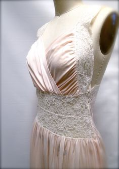 Vintage Lingerie Pale Pink Nightgown Circa 1950s by SueEllensFlair