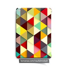 Colorful Triangles iPad Air Mini 2 3 4 Case Cover Abstract