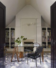 Contemporary Home Office, Library | Rafael de Cárdenas Ltd | Dering Hall Design Connect In partnership with Elle Decor, House Beautiful and Veranda.